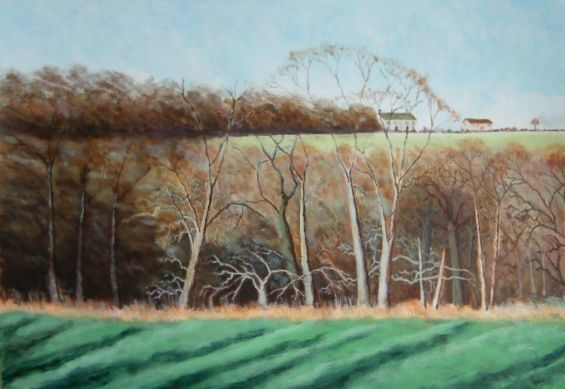 painting of winter copse
